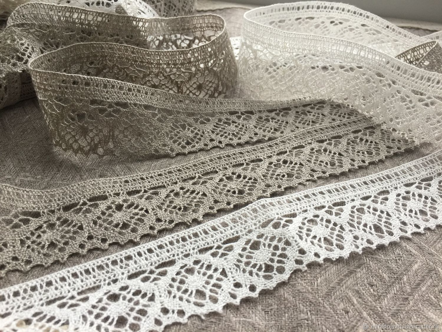 Lace linen 'Elegant' 40 mm ONLY Grey  !, Lace, Ivanovo,  Фото №1
