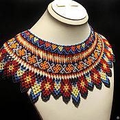 Украшения handmade. Livemaster - original item Collar shoulder piece with poppies. Handmade.