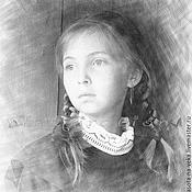 Картины и панно ручной работы. Ярмарка Мастеров - ручная работа Портрет по фото (Школьница). Handmade.