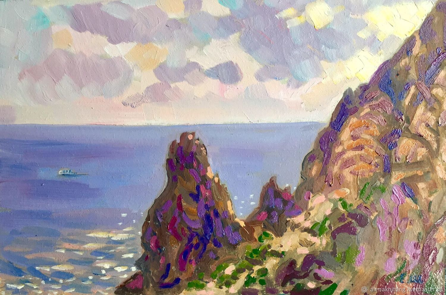 Oil sketch ' rocks of Cape Fiolent», Pictures, Moscow,  Фото №1