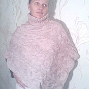 Одежда ручной работы. Ярмарка Мастеров - ручная работа Пончо вязаное спицами безразмерное. Handmade.