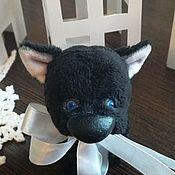 Черный щенок 8,5 см!