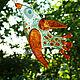 Статуэтки ручной работы. подвесочки Птички, стекло, фьюзинг,. Слада Новицки Фьюзинг. Ярмарка Мастеров. Птичка, комбинированный