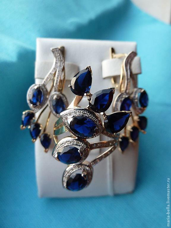 Set The Firebird. Sapphires,diamonds, gold, Jewelry Sets, Moscow,  Фото №1