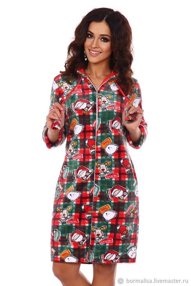 Dressing gown with socks ' Santa', Robes, Ivanovo,  Фото №1