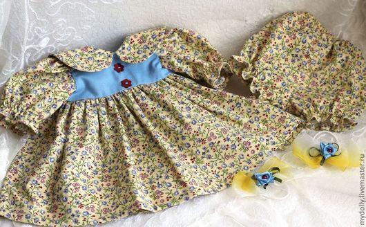Одежда для кукол ручной работы. Ярмарка Мастеров - ручная работа. Купить Комплект одежды для куклы 36- 38 см. Handmade.