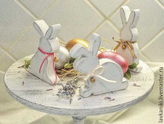 """Подарки на Пасху ручной работы. Ярмарка Мастеров - ручная работа. Купить Пасхальные кролики """"White rabbits"""" в стиле shabby chic. Handmade."""