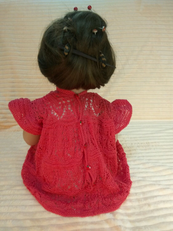 Ажуное платье ручной работы