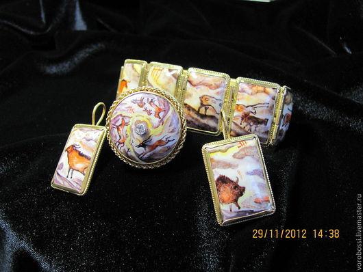 Комплекты украшений ручной работы. Ярмарка Мастеров - ручная работа. Купить серебряный комплект ,,неолит,,. Handmade. Финить, наскальные рисунки