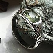 Украшения handmade. Livemaster - original item Ring with raw yellow green Sapphire (2,64 ct). Handmade.