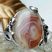 Украшения handmade. Livemaster - original item Ring with natural agate Botswana