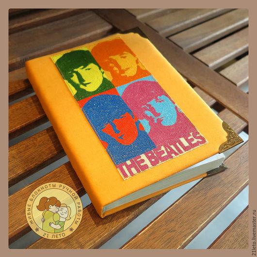 Блокноты ручной работы. Ярмарка Мастеров - ручная работа. Купить Блокнот The Beatles. Handmade. Оранжевый, блокнот с нуля