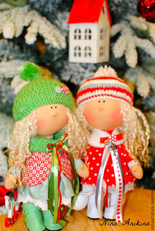 Коллекционные куклы ручной работы. Ярмарка Мастеров - ручная работа. Купить Малышки Сестрички. Handmade. Комбинированный, интерьерная игрушка, хлопок