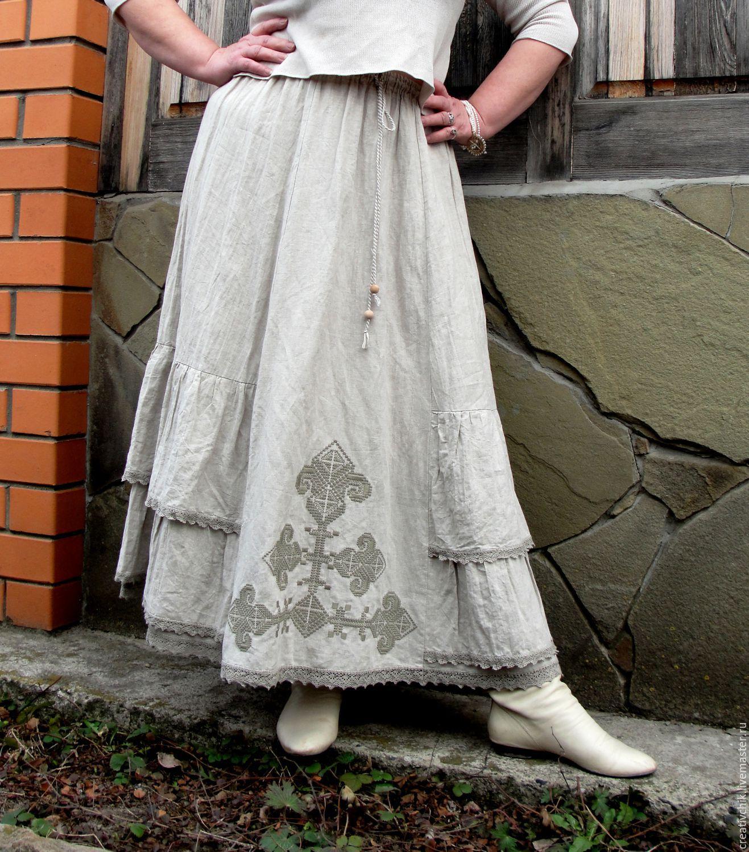 Как украсить длинную юбку своими руками