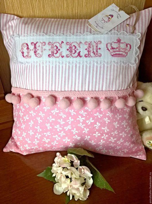Детская ручной работы. Ярмарка Мастеров - ручная работа. Купить Декоративная подушка. Handmade. Розовый, интерьер, девушке, подушка в подарок