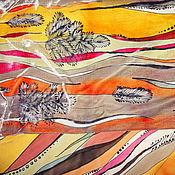"""Аксессуары ручной работы. Ярмарка Мастеров - ручная работа Батик шарф """"Травка"""". Handmade."""
