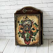 Для дома и интерьера handmade. Livemaster - original item Key holders wall: Wisdom. Handmade.