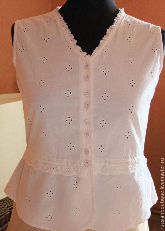 Одежда. Ярмарка Мастеров - ручная работа. Купить Великолепная белая блузка Jainsons India винтаж. Handmade. Белый, винтажная блузка