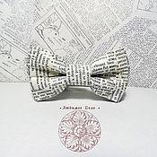 Аксессуары handmade. Livemaster - original item Bow Tie Children`s Newspaper/ Aged Newspaper. Handmade.