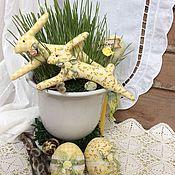 Подарки к праздникам ручной работы. Ярмарка Мастеров - ручная работа Текстильные пасхальные сувениры. Handmade.