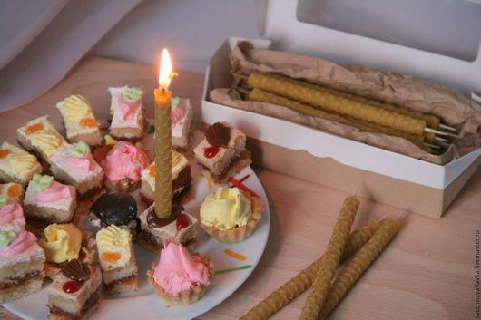 Свечи ручной работы. Ярмарка Мастеров - ручная работа. Купить Свечи для тортика (набор). Handmade. Свечи восковые, свечи для торта