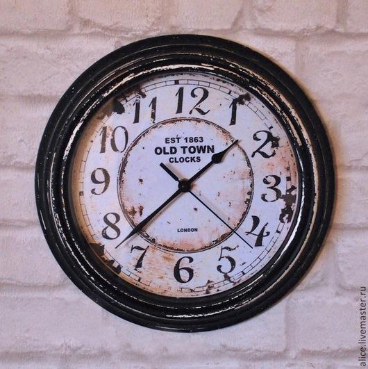 Часы для дома ручной работы. Ярмарка Мастеров - ручная работа. Купить ВИНТАЖ черно-белый часы. Handmade. Чёрно-белый