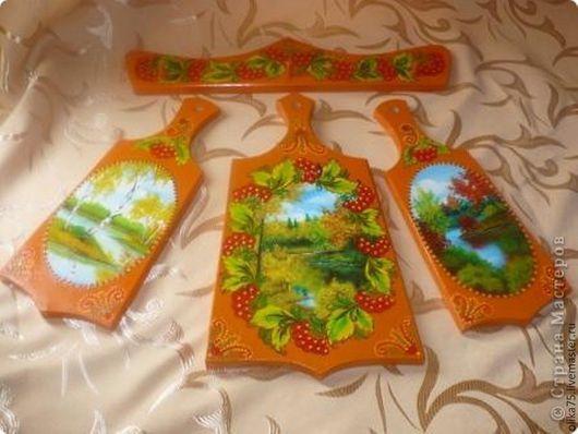 """Кухня ручной работы. Ярмарка Мастеров - ручная работа. Купить набор разделочных досок """"Осень"""". Handmade. Рыжий, осенний пейзаж"""