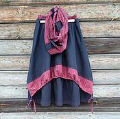 Одежда handmade. Livemaster - original item No. №183 Warm skirt boho double. Handmade.