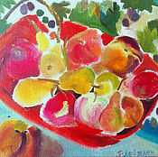 Картины и панно handmade. Livemaster - original item Picture. Fruit basket. Handmade.