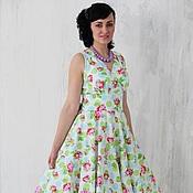 Одежда ручной работы. Ярмарка Мастеров - ручная работа Платье-сарафан в стиле 50-х. Handmade.