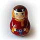 Tumbler with ringing 'Alyosha Matroskin', Dolls1, Sarov,  Фото №1