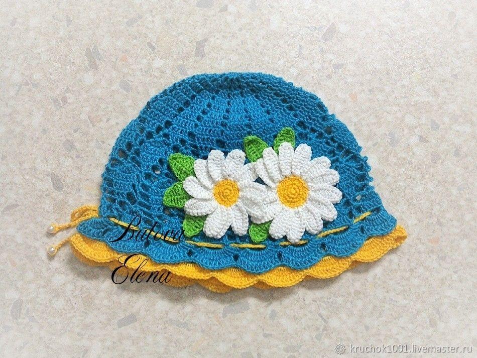 Panamas handmade. Livemaster - handmade. Buy The Panamanian ' Summer'.Cap, hat knitted, hat children's