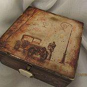 """Для дома и интерьера ручной работы. Ярмарка Мастеров - ручная работа Коробка для чая """"Свидание"""". Handmade."""