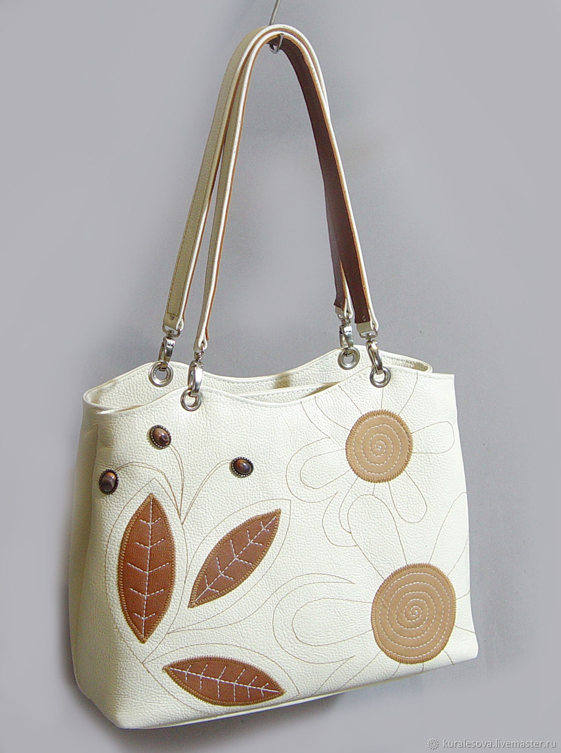 Handbags handmade. Livemaster - handmade. Buy Leather bag ' mocha Coffee'.Handmade, beige bag, bag accessories