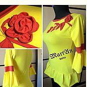"Одежда handmade. Livemaster - original item Blouse ""Sunny"". Handmade."