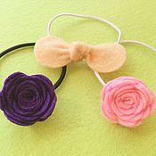Работы для детей, ручной работы. Ярмарка Мастеров - ручная работа Резинки для волос для дочек и их мам из фетра. Handmade.