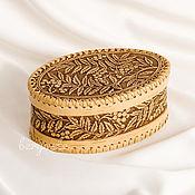 Для дома и интерьера handmade. Livemaster - original item Wooden box made of birch bark for jewelry