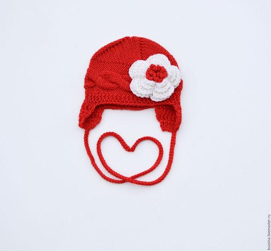 Для новорожденных, ручной работы. Ярмарка Мастеров - ручная работа. Купить Шапочка для девочки шапочка на выписку для новорожденной. Handmade. Шапка