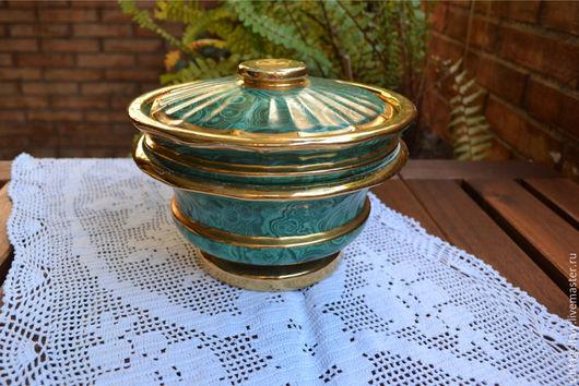 Винтажная посуда. Ярмарка Мастеров - ручная работа. Купить Антикварный керамический набор ваз.. Handmade. Зеленый, антиквариат