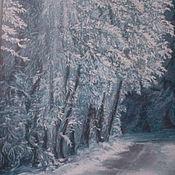 """Картины и панно ручной работы. Ярмарка Мастеров - ручная работа """"  Зимняя  дорога """". Handmade."""