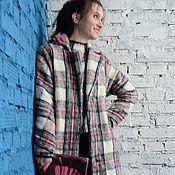 """Одежда ручной работы. Ярмарка Мастеров - ручная работа Зимнее пальто """"Клетчатая нежность"""". Handmade."""