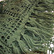 Аксессуары handmade. Livemaster - original item Dark green shawl. Handmade.
