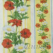 Материалы для творчества handmade. Livemaster - original item 12шт napkins decoupage flowers pattern Maki openwork ornament. Handmade.