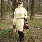 Одежда ручной работы. Ярмарка Мастеров - ручная работа Вязаное платье-свитер.. Handmade.