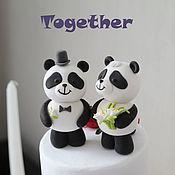 Свадебный салон ручной работы. Ярмарка Мастеров - ручная работа Фигурки на торт (панда. Handmade.
