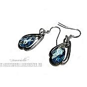 Украшения handmade. Livemaster - original item earrings Water Drops. Handmade.