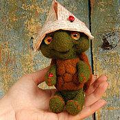 Куклы и игрушки ручной работы. Ярмарка Мастеров - ручная работа Черепашонок садовый. Handmade.
