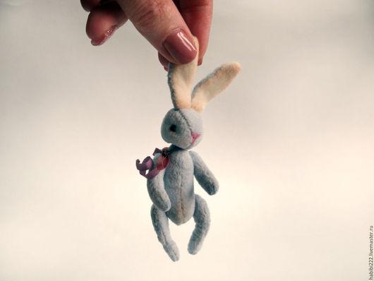 Мишки Тедди ручной работы. Ярмарка Мастеров - ручная работа. Купить Зайка Фиа. Handmade. Голубой, игрушка заяц