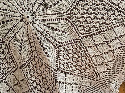 """Текстиль, ковры ручной работы. Ярмарка Мастеров - ручная работа. Купить Скатерть вязаная круглая """"Милая душе"""". Handmade."""