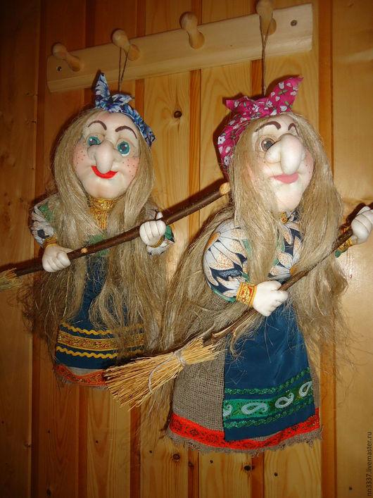 Сказочные персонажи ручной работы. Ярмарка Мастеров - ручная работа. Купить Баба Яга. Handmade. Комбинированный, интерьерное украшение, капрон